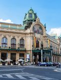 Municipal House in Prague - Czech Republic stock images
