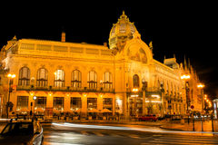 The Municipal House in Prague  in the light of lanterns Stock Image