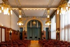Municipal house Prague town Czech republic royalty free stock photography