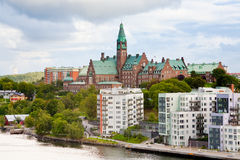 Municipal houses and hospital in Stockholm Stock Image