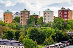 Municipal houses in Stockholm Royalty Free Stock Image