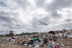 Municipal landfill for household waste. A big municipal landfill for household waste Royalty Free Stock Photography