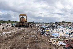Municipal landfill for household waste Royalty Free Stock Photo