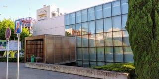 Municipal Library of Loures. Biblioteca Municipal José Saramago, Loures, Portugal. Front Door stock images