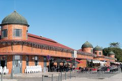 The Municipal markets built along the quays of thr Ria Formosa royalty free stock photo