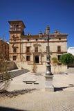 Municipal museum, Antequera, Andalusia, Spain. Municipal museum (Palacio de Najera) with the Plaza Guerrero Munoz, Antequera, Malaga Province, Andalusia, Spain Royalty Free Stock Photography