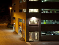 Municipal Parking Garage At Night Stock Photography