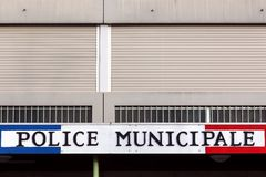 Municipal Police building in France Royalty Free Stock Image
