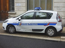 Municipal police car in Avignon, France Royalty Free Stock Image