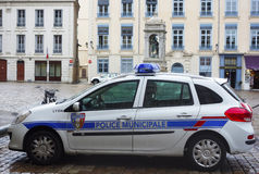 Municipal police car in Lyon, France Royalty Free Stock Photography