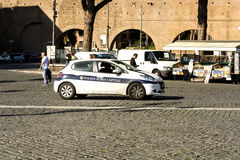 Municipal police in Rome that controls the city Royalty Free Stock Photo