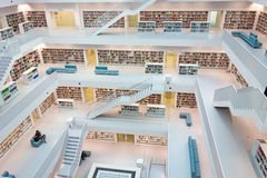 Municipal public library of Stuttgart, Germany Stock Photos