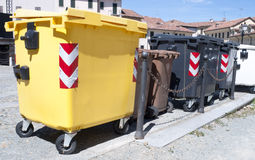 Municipal rubbish. Collector for paper and humid Royalty Free Stock Photo