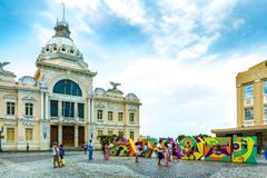 Municipal Square in Salvador, Bahia, Brazil Stock Photos