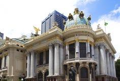 Municipal theater of Rio de Janeiro Stock Photos