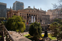 Municipal theater of Sao Paulo Royalty Free Stock Image