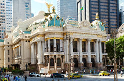 The Municipal Theatre in Rio de Janeiro Stock Photography
