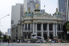 The Municipal Theatre in Rio de Janeiro. Brazil. Royalty Free Stock Image