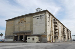 Municipal Warehouse in the Port of Los Angeles Royalty Free Stock Images