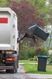 A special car garbage truck royalty free stock photography