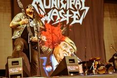 Municipal Waste metal band live 2016 Royalty Free Stock Photo