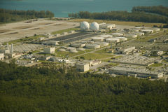 Municipal wastewater treatment plant Stock Images