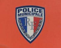 Municipale de police dans des Frances de Paris photos stock