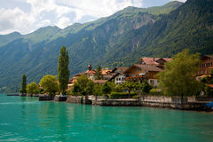 A municipalidade de Brienz, Berne, Switzerland Fotos de Stock Royalty Free