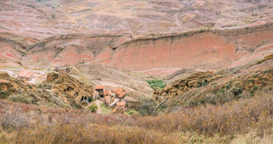 A municipalidade de Sagarejo, região de Kakheti, Geórgia Vista aérea panorâmico imagem de stock