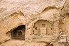 A municipalidade de Sagarejo, região de Kakheti, Geórgia David Gareja Monastery Complex ortodoxo Georgian Rocha-desbastado antigo imagem de stock