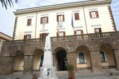 Municipality and Civic Museum of Trevignano Romano. Trevignano Romano is an Italian municipality of 5,685 inhabitants [1] of the metropolitan city of Rome Stock Photos