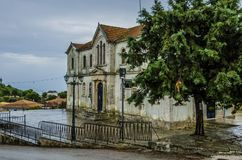 Municipality of kiliomenos town zakynthos. Facade of the municipality of kiliomenos little town at seventeen kilometers of zakynthos town Royalty Free Stock Image