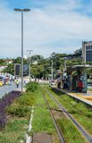 Municipality of Rio de Janeiro introduced VLTs vehicle light rail in 2016, which runs in the downtown district. Rio de Janeiro, Brazil - Jan 11, 2018 Royalty Free Stock Photography