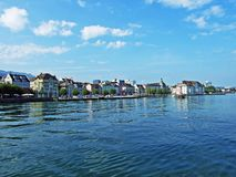 Municipality Rorschach on the south side of Lake Constance Bodensee. Canton of St. Gallen, Switzerland stock photo