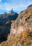 San Genesio, idyllic village near Bolzano. Trentino Alto Adige, Italy. The municipality of S. Genesio is located high above the provincial capital of Bolzano stock image