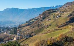 San Genesio, idyllic village near Bolzano. Trentino Alto Adige, Italy. The municipality of S. Genesio is located high above the provincial capital of Bolzano royalty free stock images