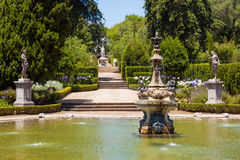 Fountain in the gardens of Queluz National Palace Stock Images