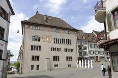 Municipio all'interno di vecchia città di Rapperswil Immagini Stock