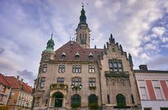 Municipio con la torre di orologio Fotografia Stock Libera da Diritti