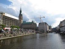 Municipio di Amburgo Fotografia Stock Libera da Diritti