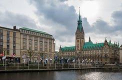 Municipio di Amburgo Rathaus Immagini Stock