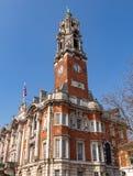 Municipio di Colchester e torre di orologio fotografia stock