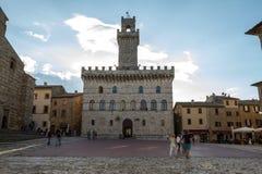 Municipio di Montepulciano Fotografia Stock Libera da Diritti
