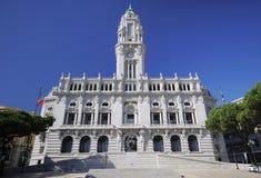 Municipio di Oporto Fotografie Stock Libere da Diritti