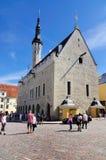 Municipio di Tallinn, Estonia fotografie stock