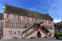 Municipio di Vecchio a Mulhouse - Alsazia - Francia Immagine Stock Libera da Diritti