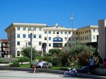 Municipio fyrkant i Fondi, Italien Fotografering för Bildbyråer