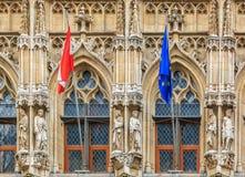 Municipio medievale a Lovanio Belgio Fotografia Stock