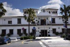 Municipio a Mijas nelle montagne sopra Costa del Sol in Spagna Fotografie Stock