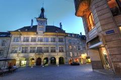 Municipio, Place de la Palud, Svizzera di Losanna Fotografie Stock Libere da Diritti